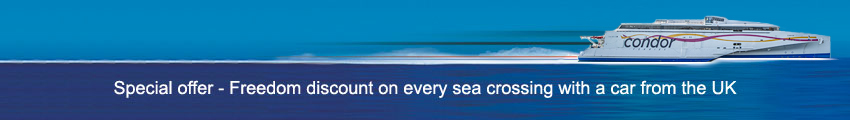 Condor Ferries - Freedom Holidays special discount on every sea crossing with a car from the UK